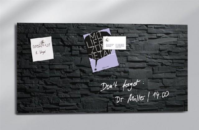 Lavagna magnetica effetto muro nero
