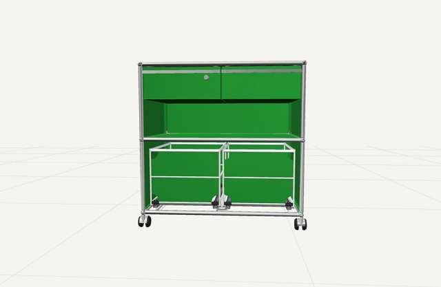 Mobiletto su ruote USM verde