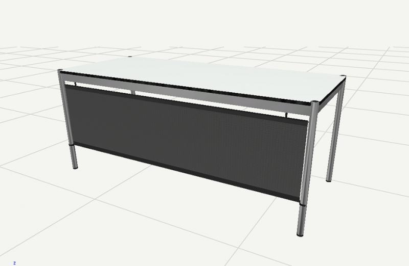 Pannello frontale 2000 per tavolo USM Haller