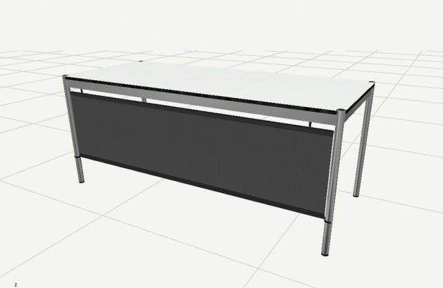 Pannello frontale 1500 per tavolo USM Haller