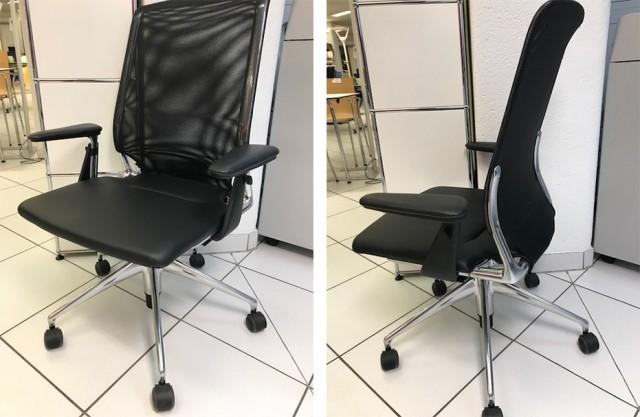 Sedia operativa VITRA Meda Chair con braccioli